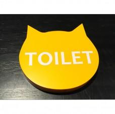 高7cm_10mm噴漆壓克力上貼卡典-廁所牌(7H-10D-CC-TIC-Y)